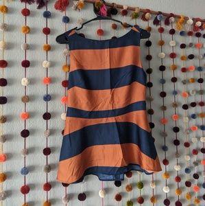 Banana Republic Striped Peplum Sleeveless Blouse